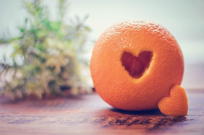 ハート オレンジ