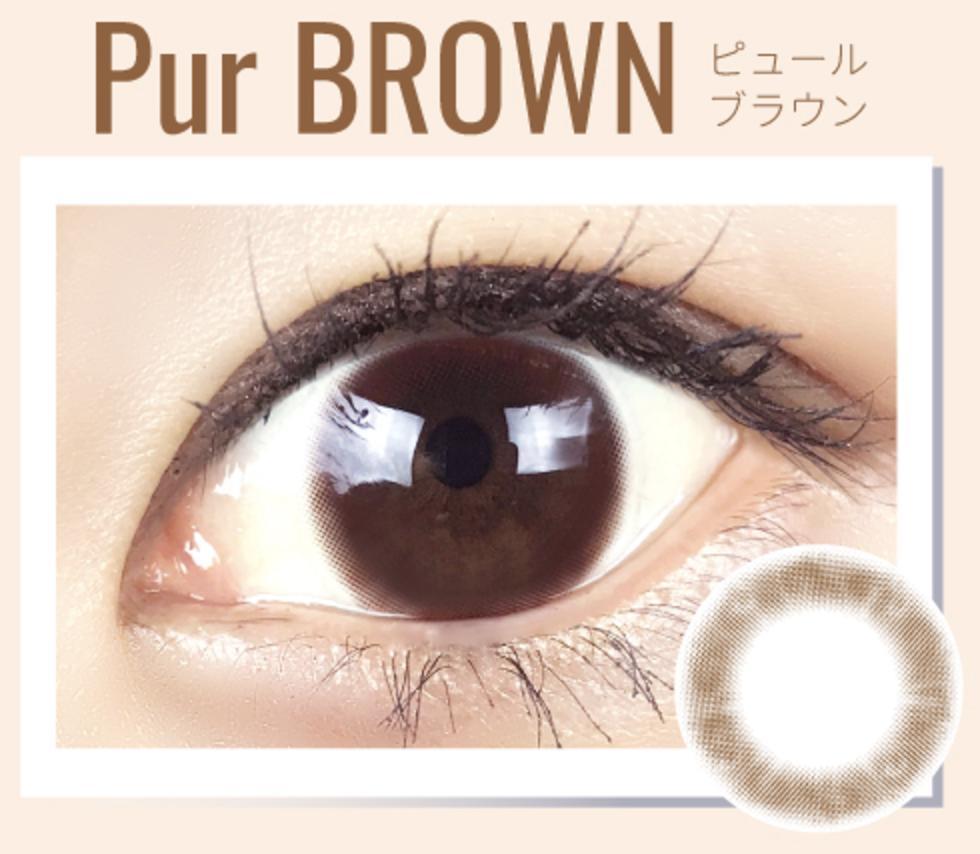 カラコン Pur BLOWN(ピュールブラウン) 商品詳細情報