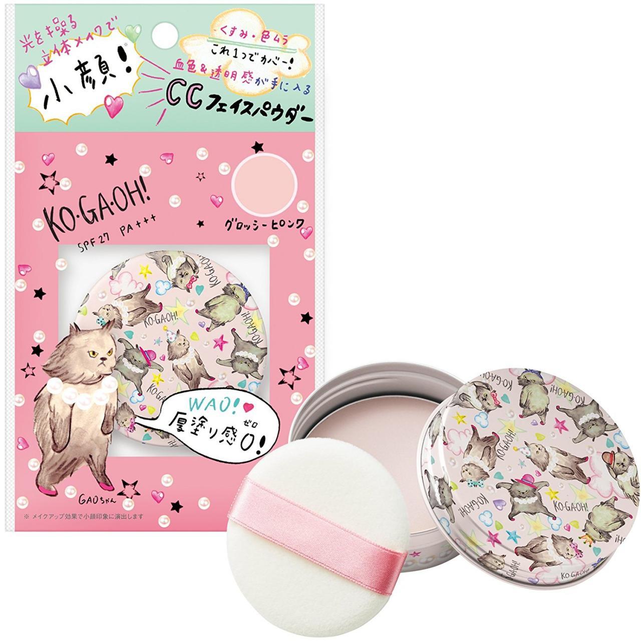 コガオウ(KO・GA・OH!) CCフェイスパウダー グロッシーピンク