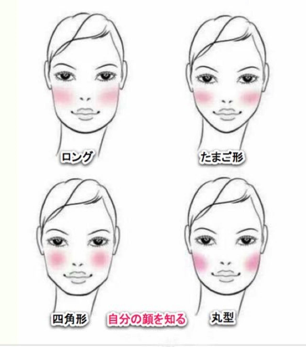 顔型 たまご型