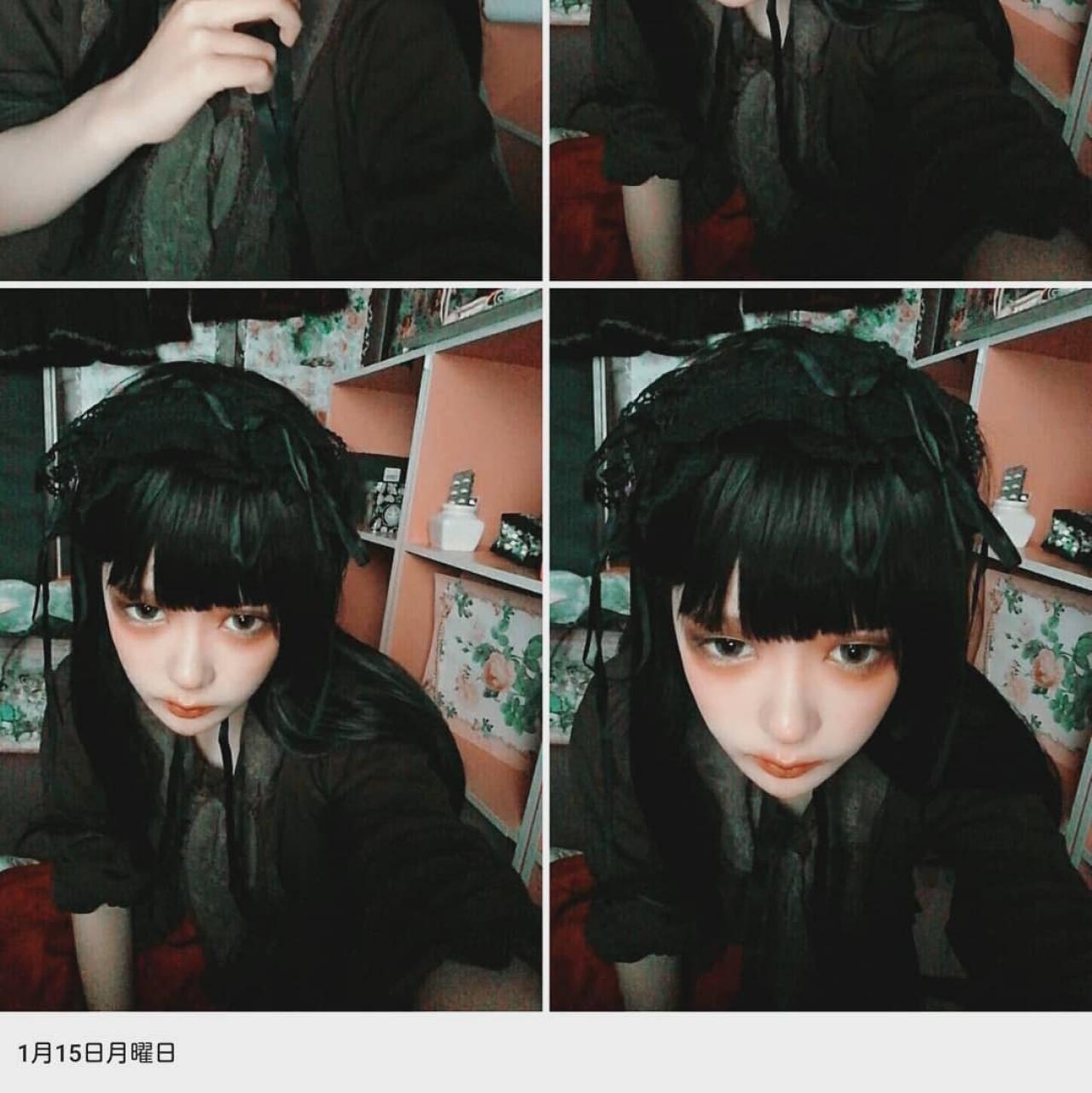 黒髪 ドールメイク やり方 方法 おすすめ つけまつげ カラコン チーク アイシャドウ アイライン 目 眉毛 唇 下まつげ 簡単 コツ 基本 とは 仕方 髪型 ファンデ ダブルライン パウダー ゴスロリ 口紅