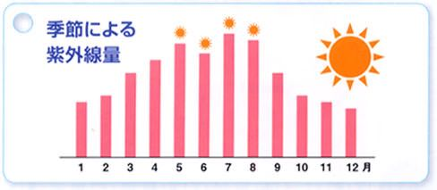 季節による紫外線量