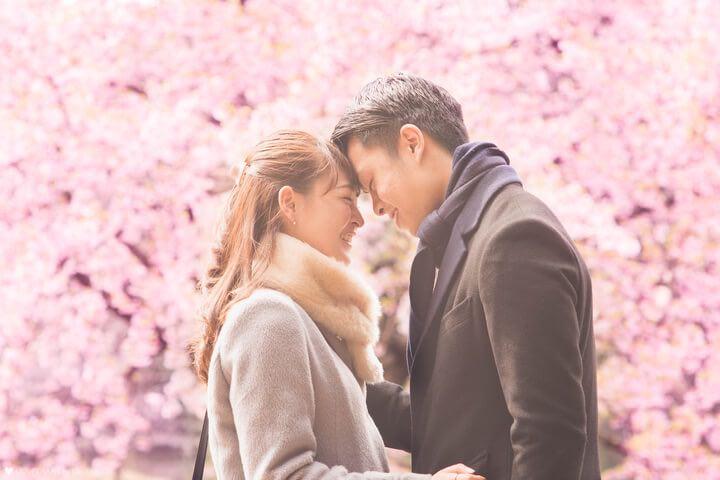 ラブグラフ:桜の中でのデート