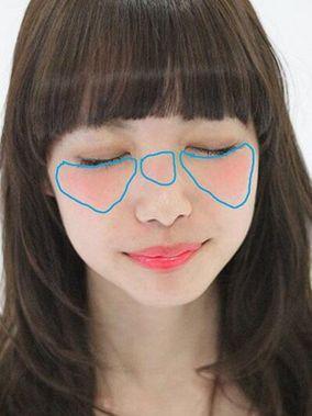 鼻筋チーク