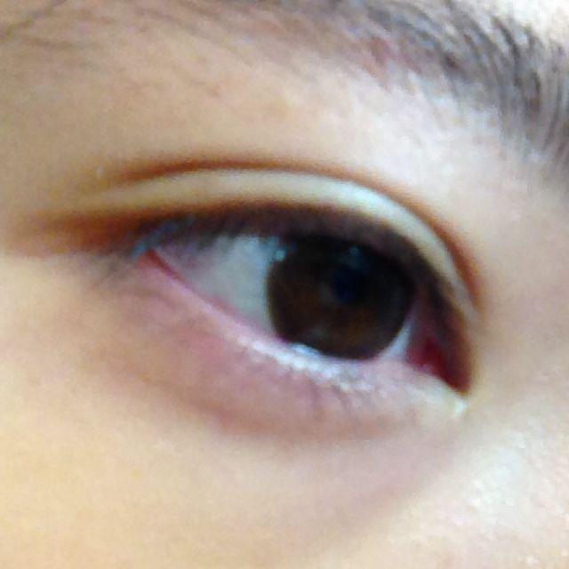 すっぴんの目です。