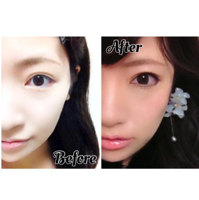 北川景子ちゃん風♡美人顔メイクのAfter画像