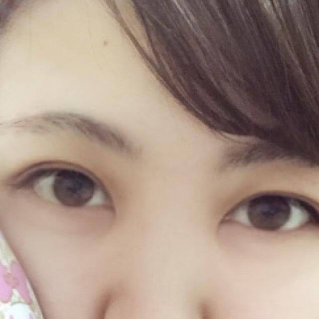 平行眉♡ほんわり系メイク♡♡のBefore画像