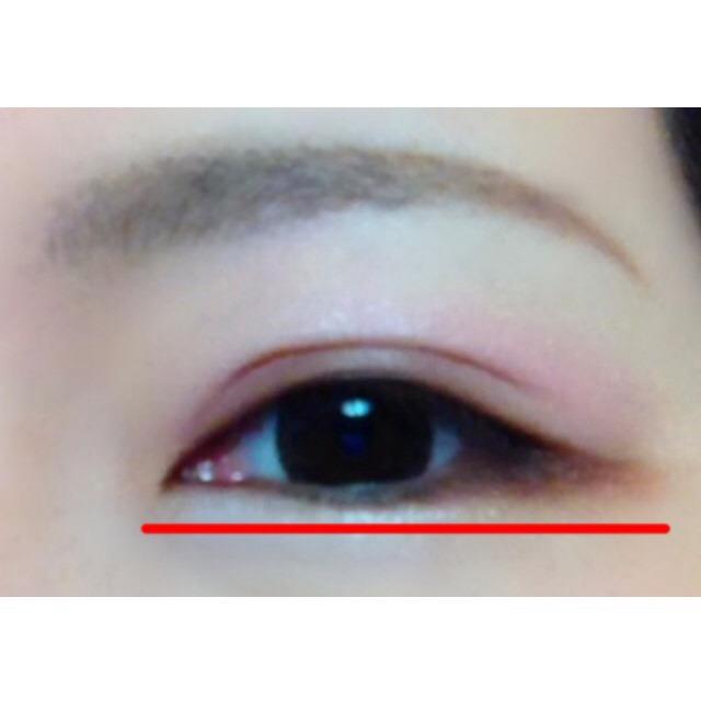 ★三角形の位置は、ニコッと笑った時に目頭から三角形までが一直線になるところが程よいタレ目の目印★