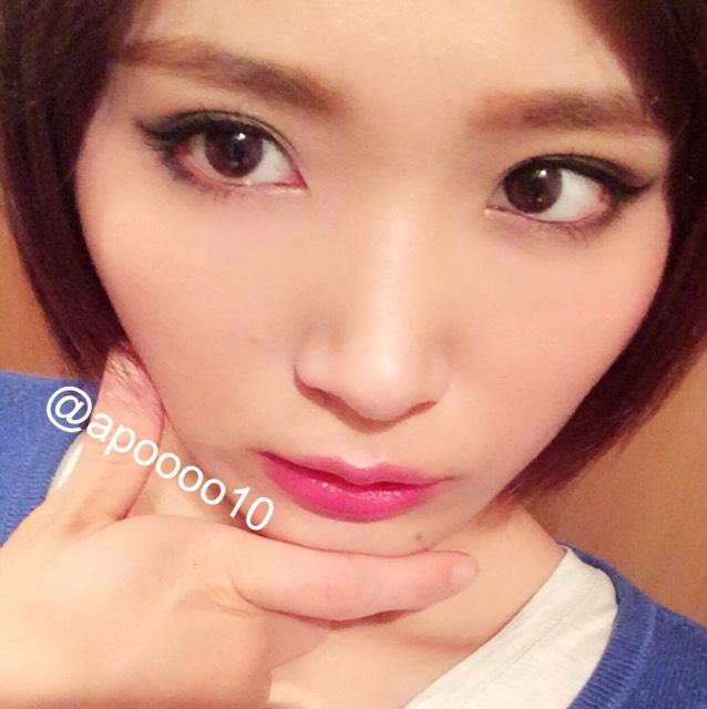 k-pop風裸眼盛りメイク