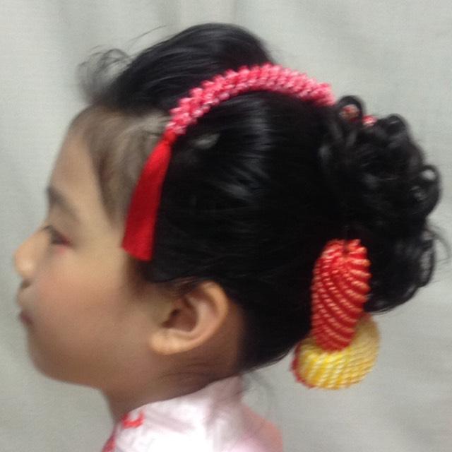 ショートヘアの日本髪風アレンジ のAfter画像