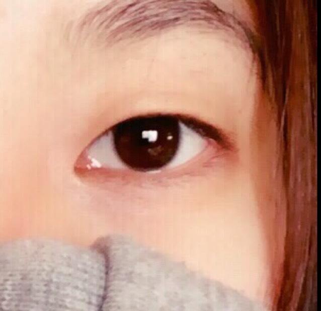 ハーフ風(?)メイクのBefore画像