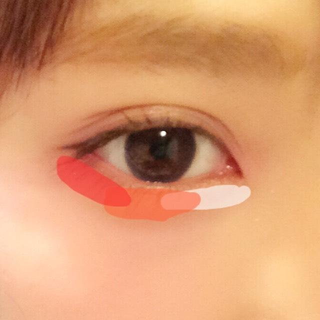 ベージュ→オレンジ→赤オレンジ の順でグラデーションにする