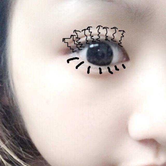 デカ目♡涙袋♡濃ゆいメイク♡の5枚目の画像