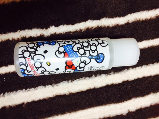 極潤シリーズのハダラボモイスト化粧水をつけていきます! 限定のキティーちゃんパッケージかわいっ!笑