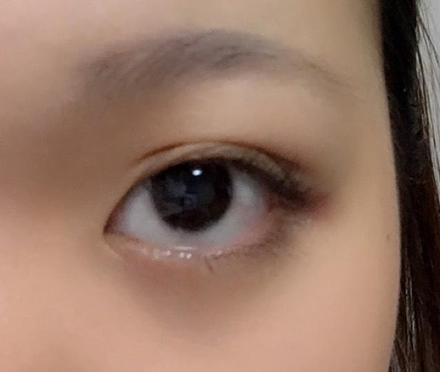 目を開けるとこう!クッキリで目を閉じても自然です٩(。•ω•。)و