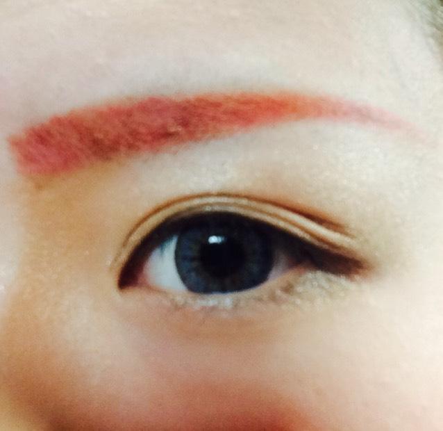 眉毛カラーチェンジのAfter画像