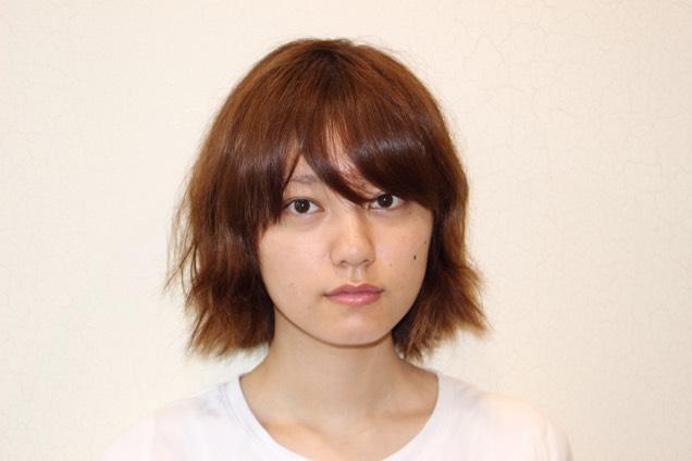 オンザ前髪×血色メイク♡のBefore画像