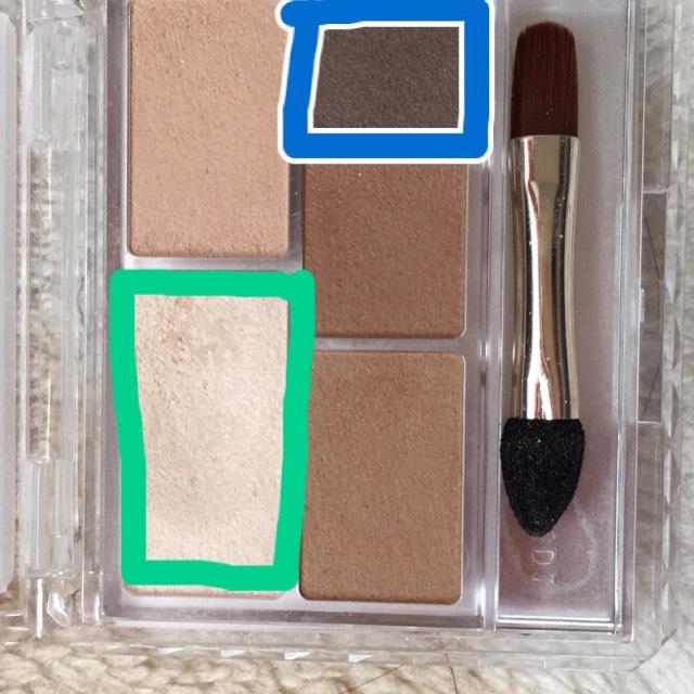 緑 白(ハイライト系) 青 濃ゆい茶色