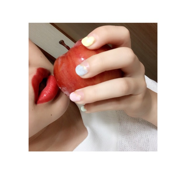 ♛赤リップのAfter画像