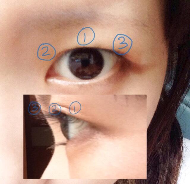 ビューラーでまつ毛をカールアップします 根元⇨真ん中⇨毛先の三回に分け、さらに瞼の真ん中⇨目頭⇨目尻の順に分けることで満遍なく綺麗にまつ毛を上げる事ができます(計9回)