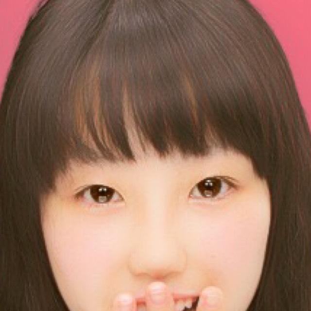 タレ目メイクのBefore画像