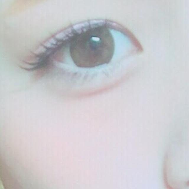 目の下チークと涙袋を意識しました!