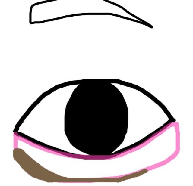 シャドウを塗ったらKATEのアイライナーやアイブロウペンシルなどで影を引き指や綿棒などで馴染ませます  目頭側を多めに塗る事で涙袋がよりぷっくり見える気がします