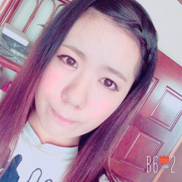 前髪編み込み♡×ナチュラルメイクのAfter画像