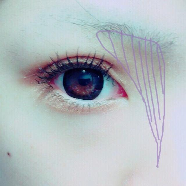 画像の紫の部分にシャドーで影を作ります。