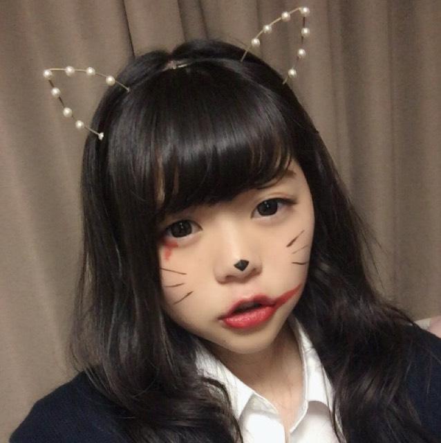 ハロウィンメイク(まこみなちゃんの真似