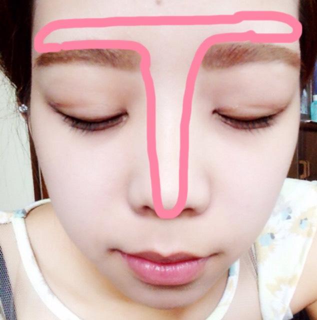 ピンクの線のところに、ハイライトを入れる。