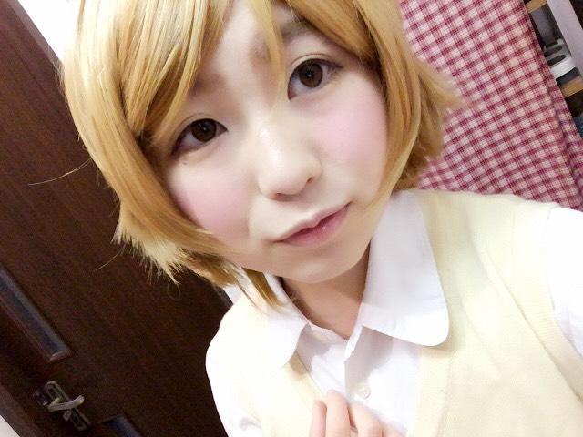ラブライブ 小泉花陽風メイクのAfter画像