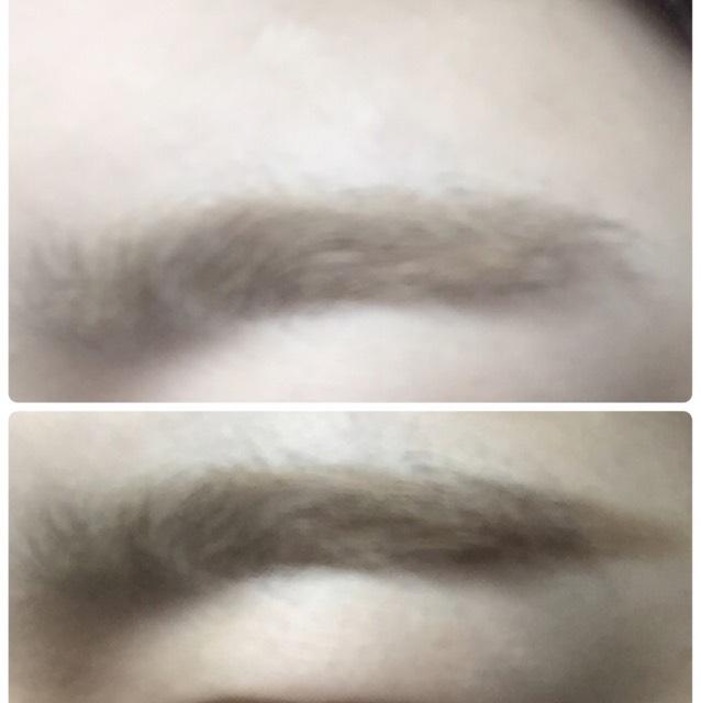 眉毛は平行に、長めに描きます。