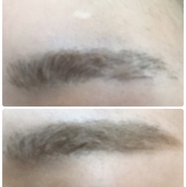 今回の眉毛は、短めに。  自分の眉の長さ以上は描き足しません。  アイブロウパウダー →眉マスカラ