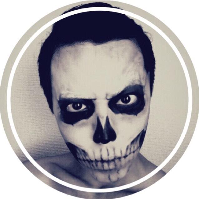 リックさん風骸骨メイクのAfter画像