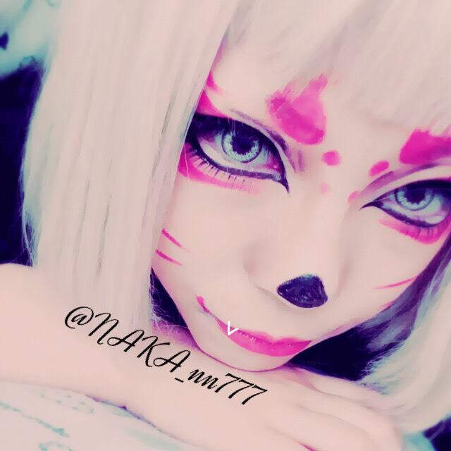狐のお面メイクのAfter画像