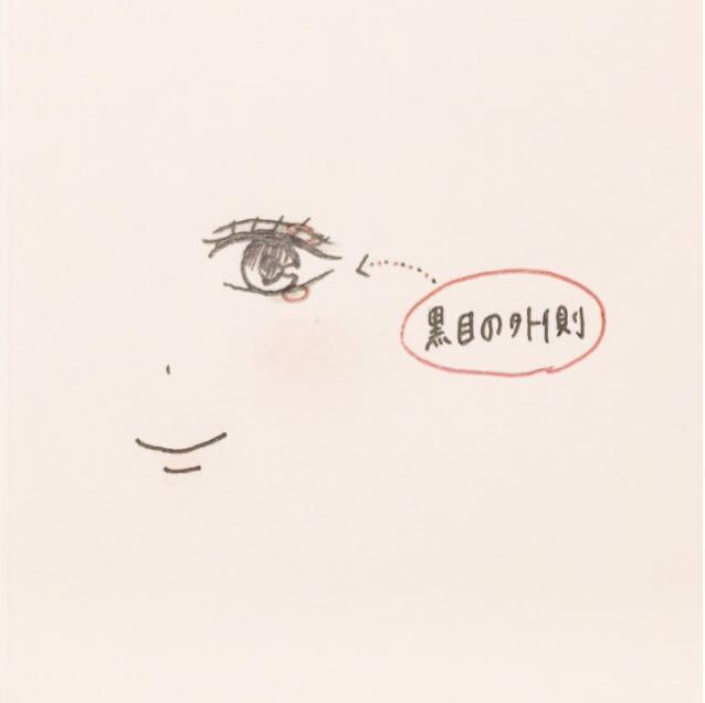 *アイシャドウのいちばん濃いブラウンを、目のキワに。  このとき、黒目の外側を濃くすると黒目がおっきく見えるの!  アイラインを目の形に沿って、すっと引くのも忘れずに。  (afterの1・10を使用)  *下まぶたも同様に。  涙袋ライナーを薄く引くとさらにかわいい♡ アイブロウペンシルで涙袋を描いてもよし。  (afterの7・8を使用)