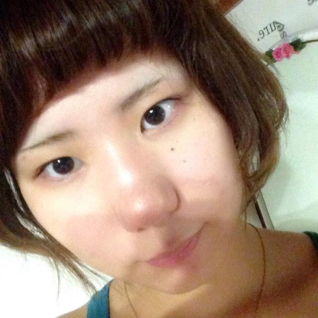 おん眉さんの太タレ眉メイクのBefore画像