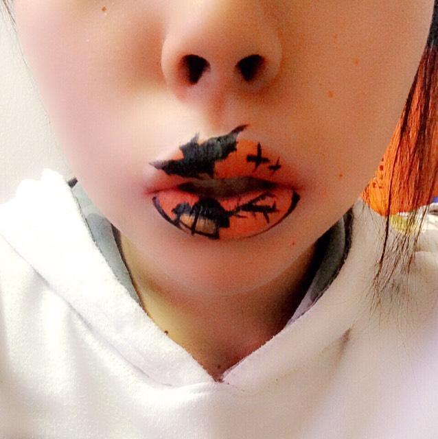 ハロウィン風リップアート