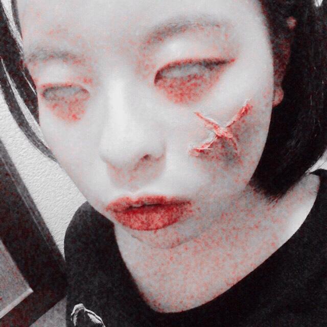 今すぐできる(?)傷メイク【血のり無し】のAfter画像