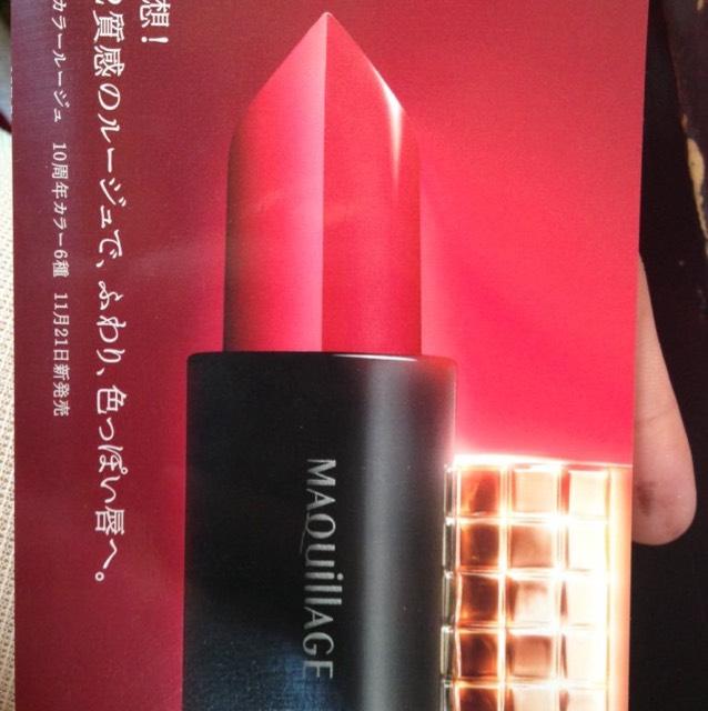 口紅はMaquillageの 11月21日発売の 試供品を使いました