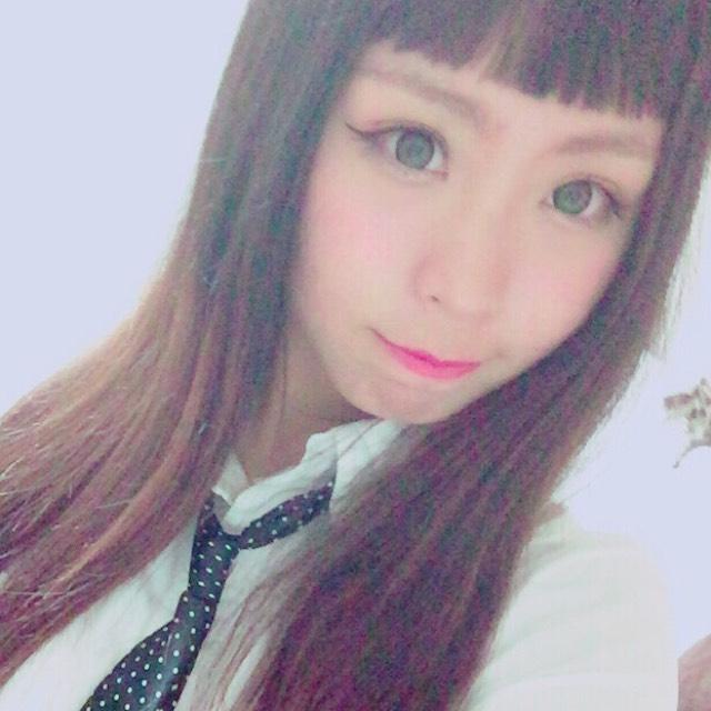 つーちゃんカラコンのグリーンアップルのAfter画像