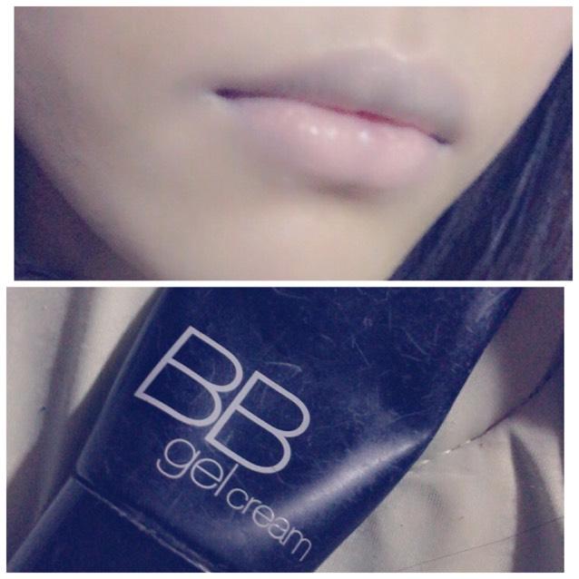 KATEの ミネラルカバーBBジェルクリームの オークルBで唇の血色をなくします 唇用のコンシーラーなどでも大丈夫です