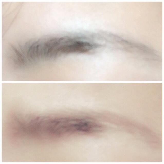 眉毛の脱色