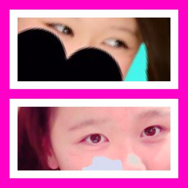 アイメイク❥❥裸眼のBefore画像