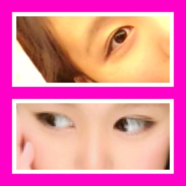 アイメイク❥❥裸眼のAfter画像