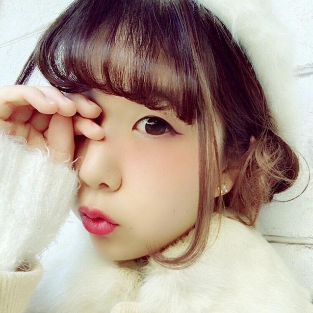 うさぎメイク × ベレー帽アレンジ
