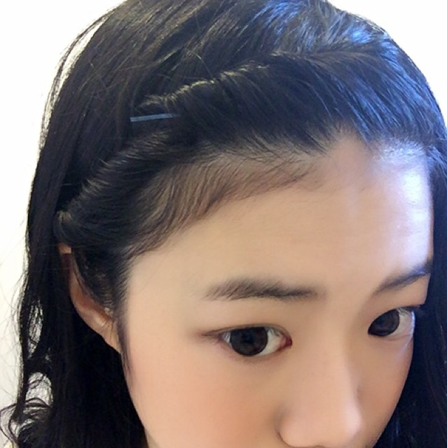 中途半端な前髪に…前髪ねじりアレンジ✨のAfter画像