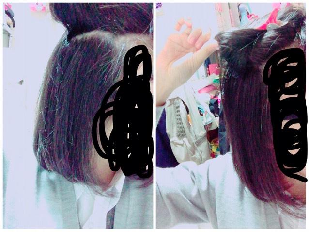 次はブロッキングした髪の毛から髪の毛増やします。