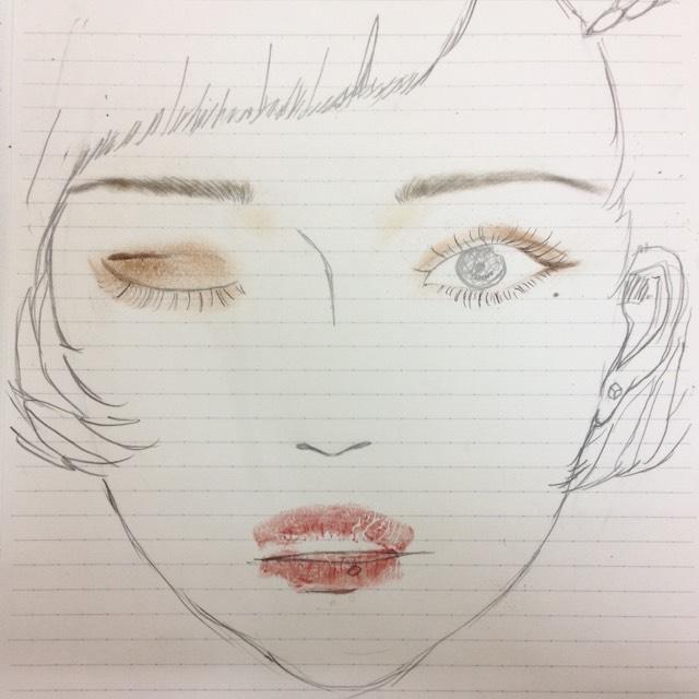 今日のハーフ顔(・◊・)イラストのAfter画像